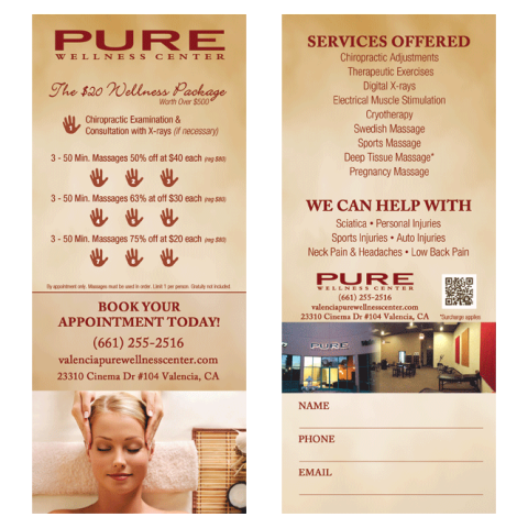 Pure Wellness Center Promo Card