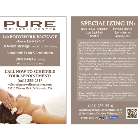Pure Wellness Center Flyer Design