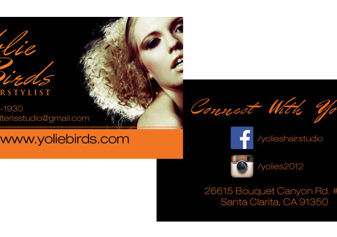 Yolie Birds Business Card Design