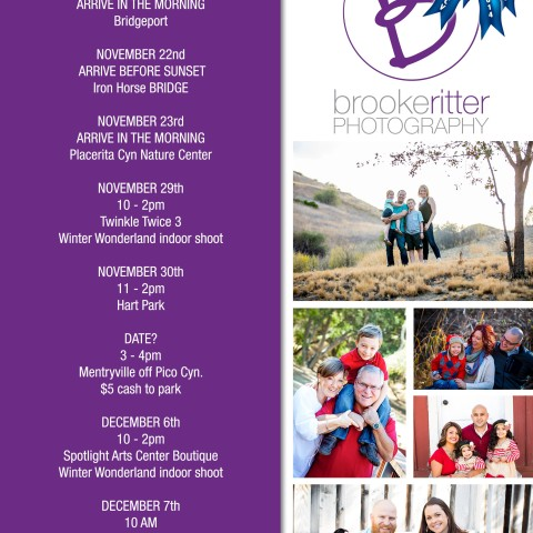 Brooke Ritter Photography Flyer