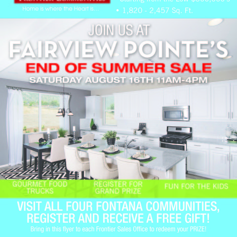 Frontier Communities Summer Sale Flyer